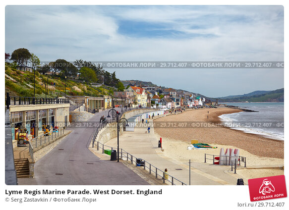 Купить «Lyme Regis Marine Parade. West Dorset. England», фото № 29712407, снято 12 мая 2009 г. (c) Serg Zastavkin / Фотобанк Лори