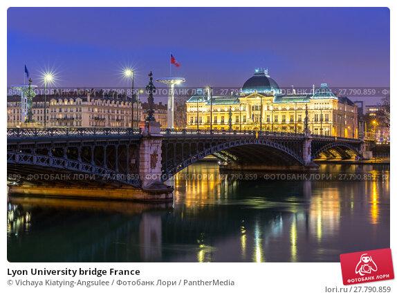 Купить «Lyon University bridge France», фото № 27790859, снято 18 октября 2018 г. (c) PantherMedia / Фотобанк Лори