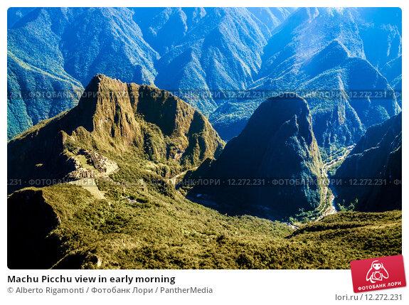 Купить «Machu Picchu view in early morning», фото № 12272231, снято 21 февраля 2019 г. (c) PantherMedia / Фотобанк Лори