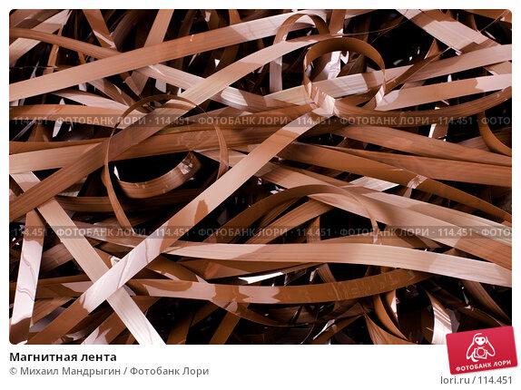 Купить «Магнитная лента», фото № 114451, снято 5 ноября 2007 г. (c) Михаил Мандрыгин / Фотобанк Лори