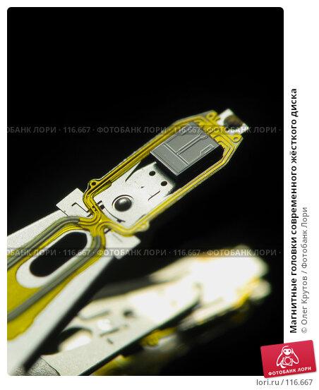 Купить «Магнитные головки современного жёсткого диска», фото № 116667, снято 21 марта 2018 г. (c) Олег Крутов / Фотобанк Лори
