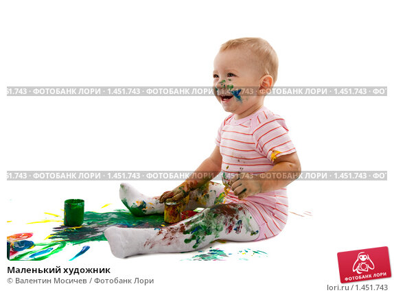 Купить «Маленький художник», фото № 1451743, снято 5 ноября 2007 г. (c) Валентин Мосичев / Фотобанк Лори