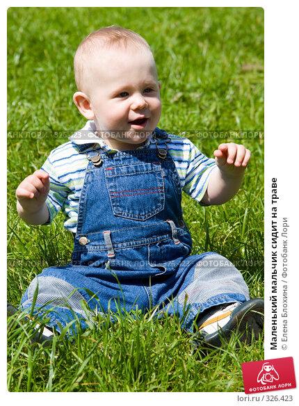 Купить «Маленький мальчик сидит на траве», фото № 326423, снято 14 июня 2008 г. (c) Елена Блохина / Фотобанк Лори