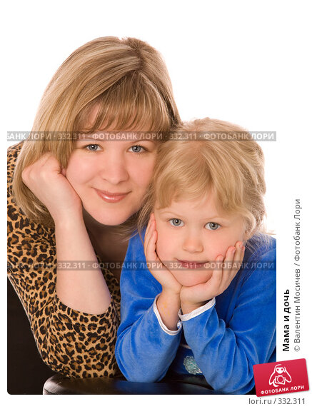 Мама и дочь, фото № 332311, снято 11 мая 2008 г. (c) Валентин Мосичев / Фотобанк Лори