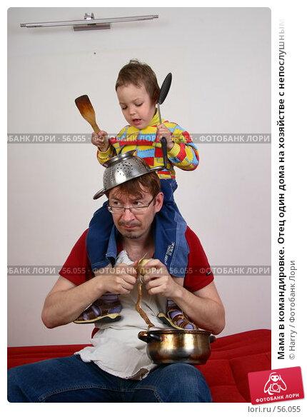 Мама в командировке. Отец один дома на хозяйстве с непослушным ребенком, фото № 56055, снято 4 июня 2007 г. (c) Harry / Фотобанк Лори