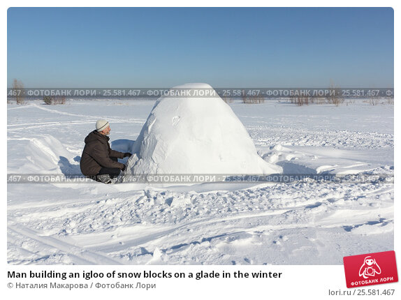 building of an igloo
