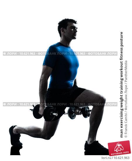 man exercising weight training workout fitness posture. Стоковое фото, фотограф Franck Camhi / PantherMedia / Фотобанк Лори