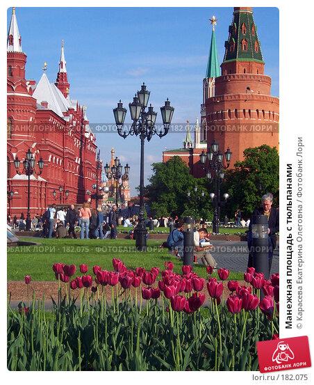 Манежная площадь с тюльпанами, фото № 182075, снято 26 мая 2006 г. (c) Карасева Екатерина Олеговна / Фотобанк Лори