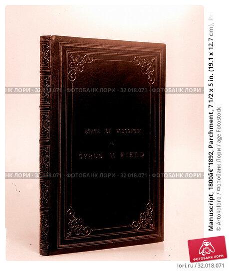 Купить «Manuscript, 1800–1892, Parchment, 7 1/2 x 5 in. (19.1 x 12.7 cm), Prints», фото № 32018071, снято 20 февраля 2017 г. (c) age Fotostock / Фотобанк Лори