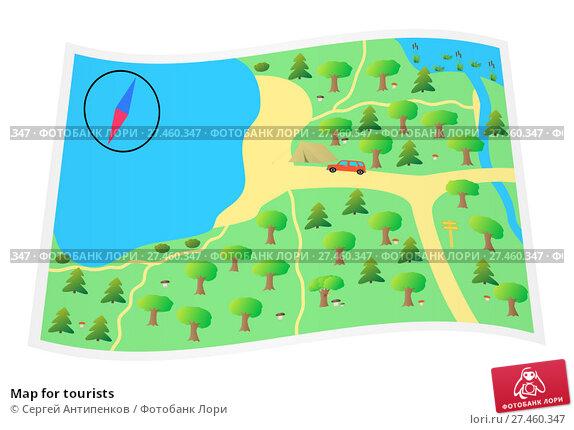 Купить «Map for tourists», иллюстрация № 27460347 (c) Сергей Антипенков / Фотобанк Лори