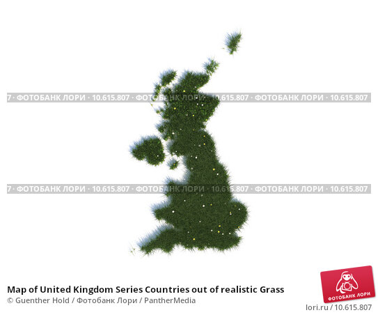 Map of United Kingdom Series Countries out of realistic Grass. Стоковое фото, фотограф Guenther Hold / PantherMedia / Фотобанк Лори