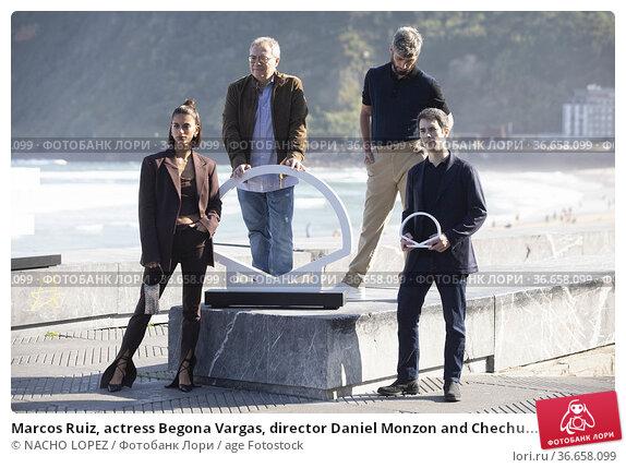 Marcos Ruiz, actress Begona Vargas, director Daniel Monzon and Chechu... Редакционное фото, фотограф NACHO LOPEZ / age Fotostock / Фотобанк Лори