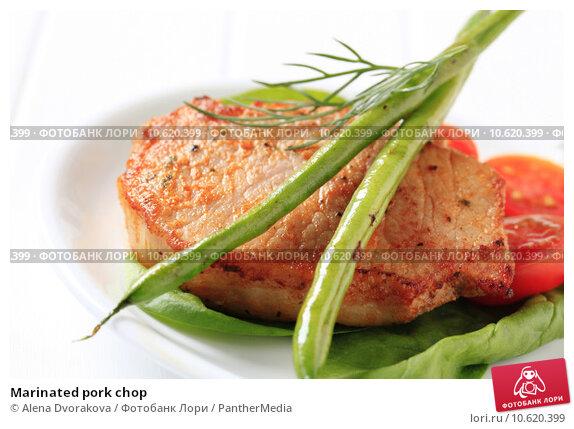 Marinated pork chop . Стоковое фото, фотограф Alena Dvorakova / PantherMedia / Фотобанк Лори