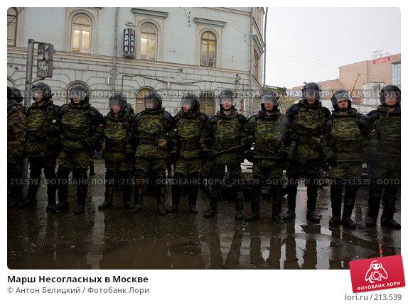 Марш Несогласных в Москве, фото № 213539, снято 3 марта 2008 г. (c) Антон Белицкий / Фотобанк Лори
