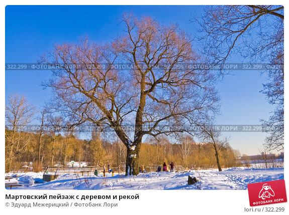 Мартовский пейзаж с деревом и рекой, фото № 322299, снято 21 февраля 2008 г. (c) Эдуард Межерицкий / Фотобанк Лори