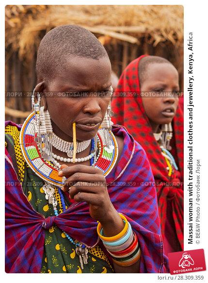 Купить «Massai woman with traditional clothes and jewellery, Kenya, Africa», фото № 28309359, снято 16 декабря 2018 г. (c) BE&W Photo / Фотобанк Лори
