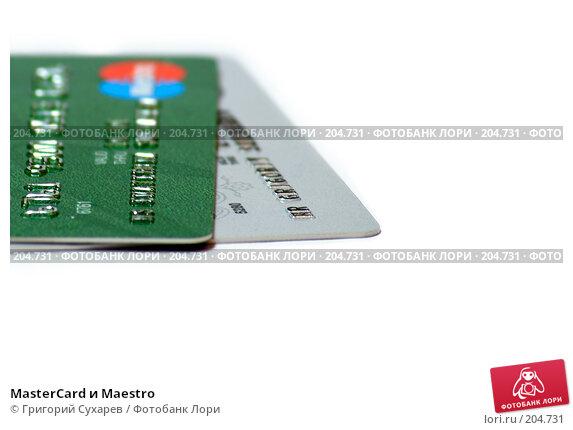 MasterCard и Maestro, фото № 204731, снято 20 января 2008 г. (c) Григорий Сухарев / Фотобанк Лори