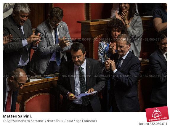 Matteo Salvini. (2019 год). Редакционное фото, фотограф Agf/Alessandro Serrano' / age Fotostock / Фотобанк Лори