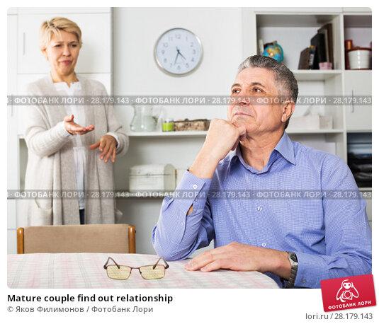 Купить «Mature couple find out relationship», фото № 28179143, снято 25 июня 2019 г. (c) Яков Филимонов / Фотобанк Лори