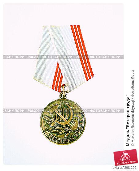 "Медаль ""Ветеран труда"", фото № 298299, снято 23 мая 2008 г. (c) Михаил Яковлев (ktynzq) / Фотобанк Лори"