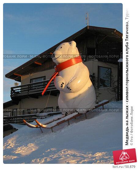 Купить «Медведь на лыжах - символ горнолыжного клуба Тягачева, Турист, Подмосковье», фото № 50879, снято 13 декабря 2003 г. (c) Fro / Фотобанк Лори
