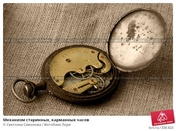 Механизм старинных, карманных часов, фото № 338923, снято 10 июня 2008 г. (c) Светлана Симонова / Фотобанк Лори