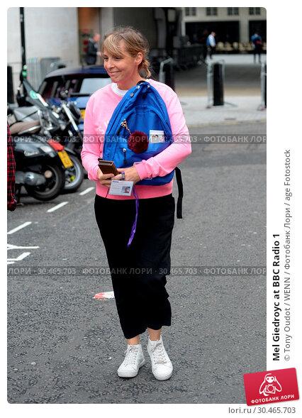 Mel Giedroyc at BBC Radio 1 (2017 год). Редакционное фото, фотограф Tony Oudot / WENN / age Fotostock / Фотобанк Лори