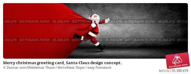 Merry christmas greeting card, Santa Claus design concept. Стоковое фото, фотограф Zoonar.com/Waldemar Thaut / easy Fotostock / Фотобанк Лори