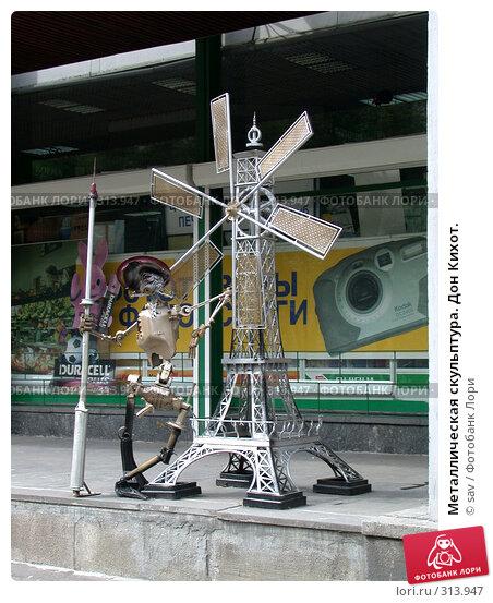 Металлическая скульптура. Дон Кихот., фото № 313947, снято 17 июля 2005 г. (c) sav / Фотобанк Лори