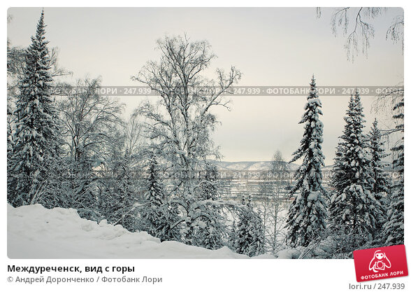 Междуреченск, вид с горы, фото № 247939, снято 3 декабря 2016 г. (c) Андрей Доронченко / Фотобанк Лори