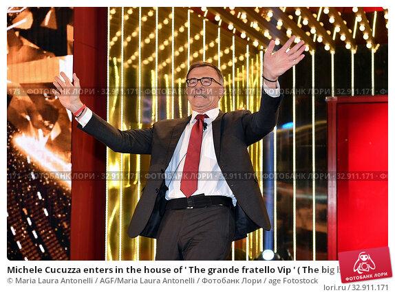 Michele Cucuzza enters in the house of ' The grande fratello Vip ' ( The big brother Vip ) Rome, ITALY-08-01-2020. Редакционное фото, фотограф Maria Laura Antonelli / AGF/Maria Laura Antonelli / age Fotostock / Фотобанк Лори