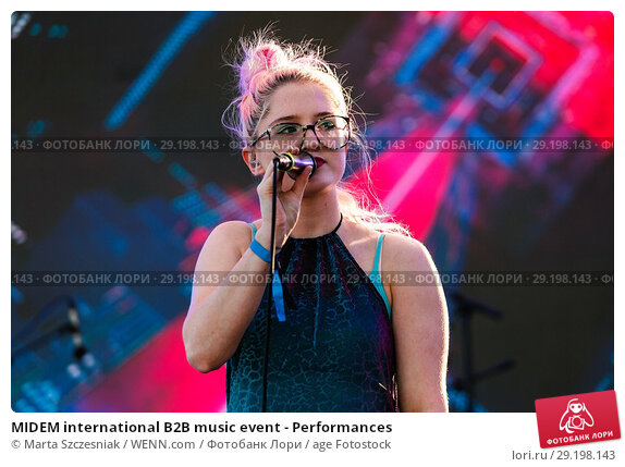 Купить «MIDEM international B2B music event - Performances Featuring: Be Charlotte Where: Cannes, France When: 06 Jun 2017 Credit: Marta Szczesniak/WENN.com», фото № 29198143, снято 6 июня 2017 г. (c) age Fotostock / Фотобанк Лори