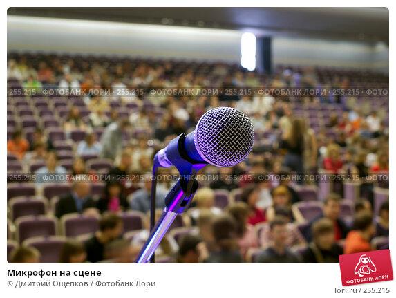 Микрофон на сцене, фото № 255215, снято 12 апреля 2008 г. (c) Дмитрий Ощепков / Фотобанк Лори