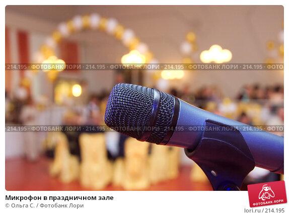 Микрофон в праздничном зале, фото № 214195, снято 15 мая 2007 г. (c) Ольга С. / Фотобанк Лори