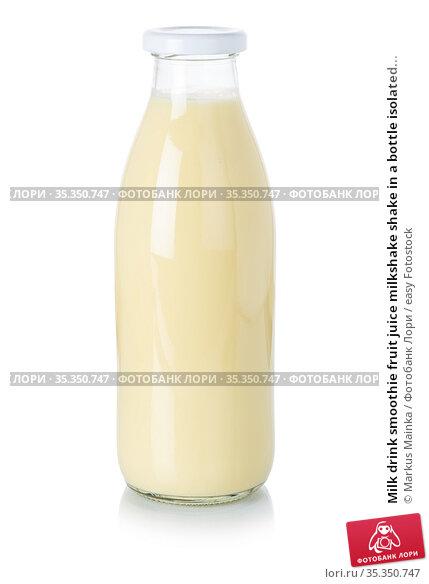 Milk drink smoothie fruit juice milkshake shake in a bottle isolated... Стоковое фото, фотограф Markus Mainka / easy Fotostock / Фотобанк Лори