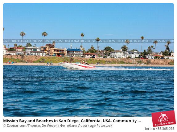 Mission Bay and Beaches in San Diego, California. USA. Community ... Стоковое фото, фотограф Zoonar.com/Thomas De Wever / age Fotostock / Фотобанк Лори