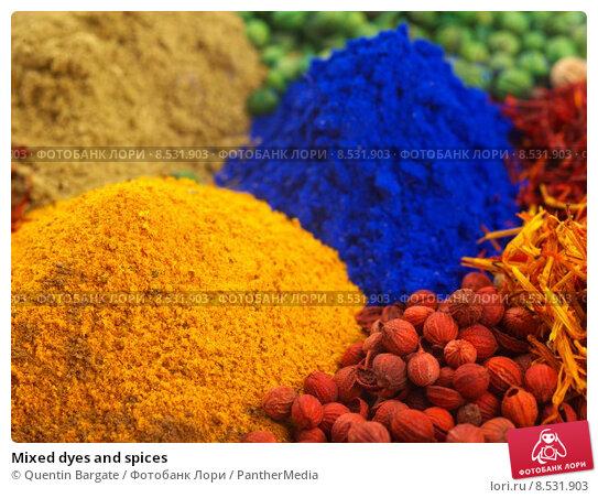 Купить «Mixed dyes and spices», фото № 8531903, снято 27 мая 2019 г. (c) PantherMedia / Фотобанк Лори