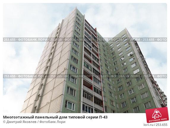 Многоэтажный панельный дом типовой серии П-43, фото № 253655, снято 22 марта 2008 г. (c) Дмитрий Яковлев / Фотобанк Лори
