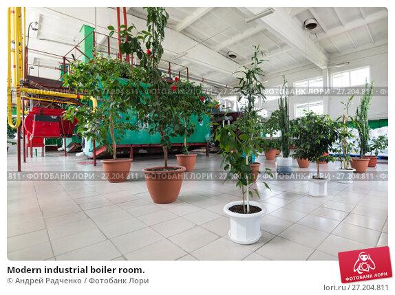 Купить «Modern industrial boiler room.», фото № 27204811, снято 6 июля 2017 г. (c) Андрей Радченко / Фотобанк Лори