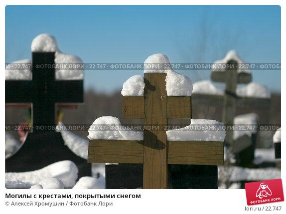 Купить «Могилы с крестами, покрытыми снегом», фото № 22747, снято 11 февраля 2007 г. (c) Алексей Хромушин / Фотобанк Лори