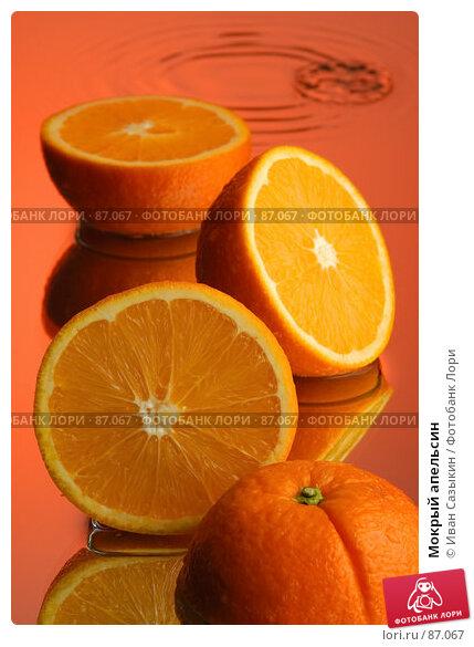 Мокрый апельсин, фото № 87067, снято 18 января 2004 г. (c) Иван Сазыкин / Фотобанк Лори