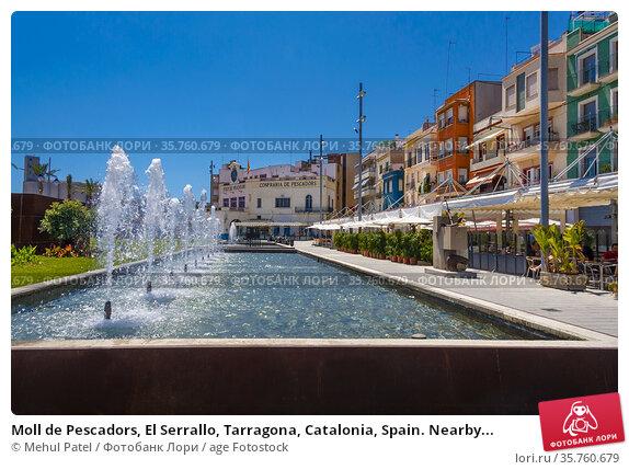 Moll de Pescadors, El Serrallo, Tarragona, Catalonia, Spain. Nearby... Стоковое фото, фотограф Mehul Patel / age Fotostock / Фотобанк Лори