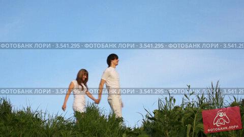 Купить «Молодая пара гуляет по парку», видеоролик № 3541295, снято 9 августа 2009 г. (c) Losevsky Pavel / Фотобанк Лори