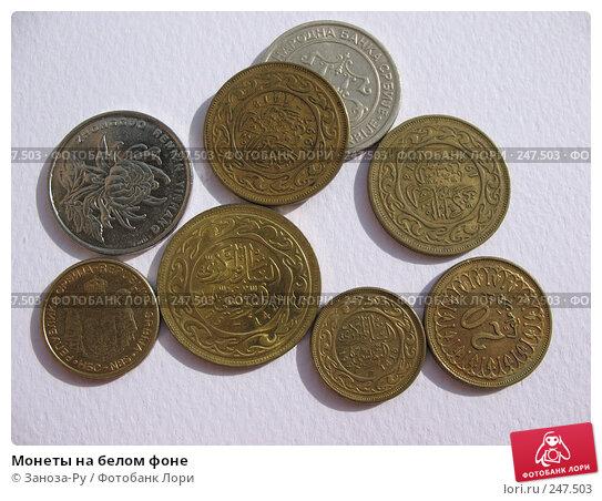 Монеты на белом фоне, фото № 247503, снято 3 апреля 2008 г. (c) Заноза-Ру / Фотобанк Лори