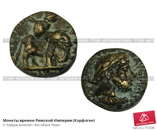 Монеты времен Римской Империи (Карфаген), фото № 77539, снято 30 августа 2007 г. (c) Зайцев Алексей / Фотобанк Лори