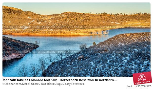 Montain lake at Colorado foothills - Horsetooth Reservoir in northern... Стоковое фото, фотограф Zoonar.com/Marek Uliasz / easy Fotostock / Фотобанк Лори