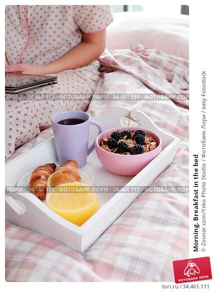 Morning. Breakfast in the bed. Стоковое фото, фотограф Zoonar.com/Yeko Photo Studio / easy Fotostock / Фотобанк Лори