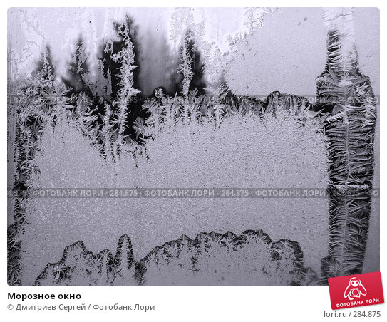 Морозное окно, фото № 284875, снято 2 декабря 2007 г. (c) Дмитриев Сергей / Фотобанк Лори