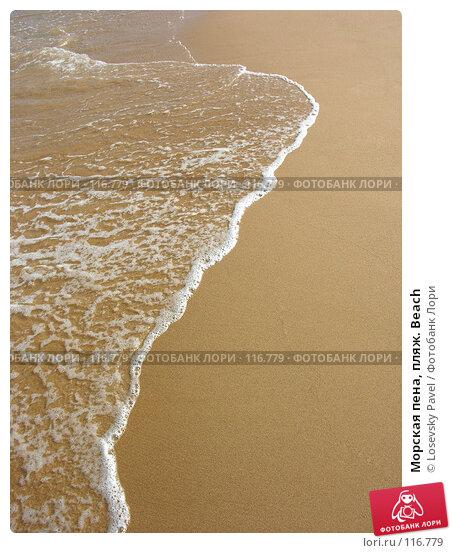Морская пена, пляж. Beach, фото № 116779, снято 6 января 2006 г. (c) Losevsky Pavel / Фотобанк Лори