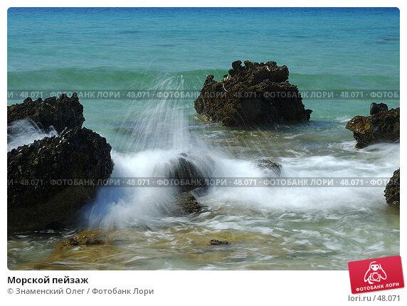 Купить «Морской пейзаж», фото № 48071, снято 13 сентября 2005 г. (c) Знаменский Олег / Фотобанк Лори